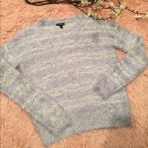 Petite Fuzzy Lilac Purple Sweater